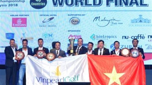 Đội tuyển golf Việt Nam vô địch WAGC thế giới