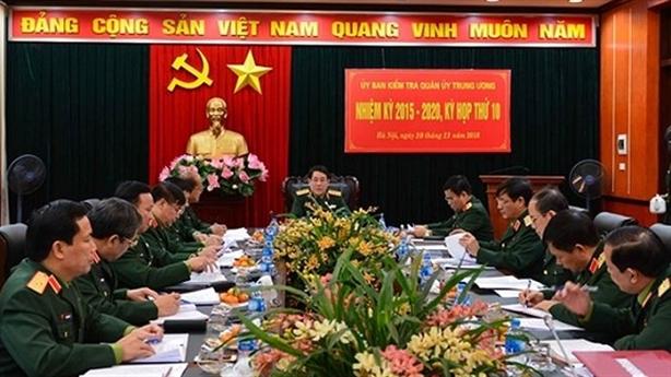 UBKT Quân ủy Trung ương đề nghị kỷ luật 8 đảng viên
