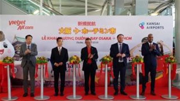 Vietjet khai trương đường bay từ Tp.HCM đến Osaka(Nhật Bản)