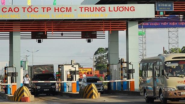 Tạm dừng thu phí cao tốc TP.HCM-Trung Lương