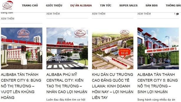 Thanh tra, xử nghiêm các dự án ảo của Địa ốc Alibaba