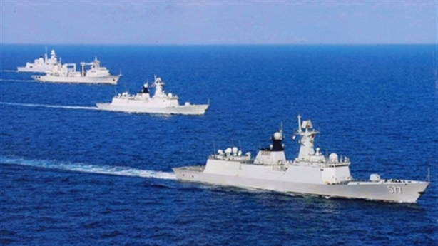 Đội tàu chiến Trung Quốc đến Campuchia