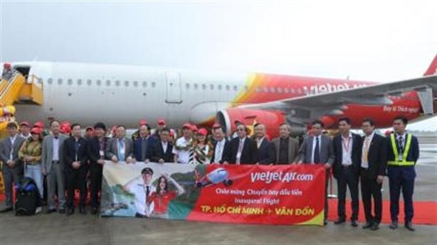 Vietjet Air khai trương đường bay Vân Đồn -TP.Hồ Chí Minh