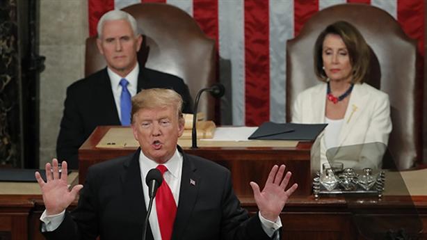 Ông Trump vẽ bức tường biên giới trong Thông điệp liên bang