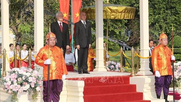 Tổng Bí thư, Chủ tịch nước Nguyễn Phú Trọng thăm Campuchia