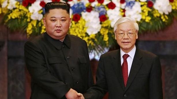 Hình ảnh lễ đón Chủ tịch Triều Tiên Kim Jong Un
