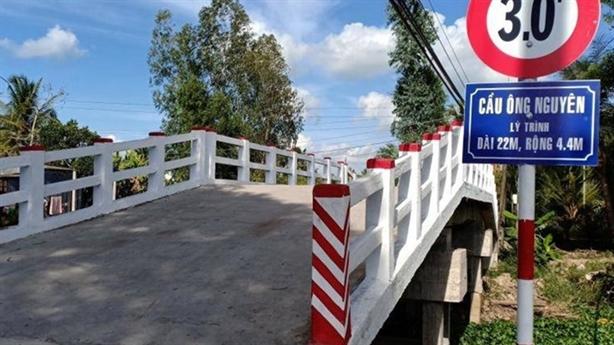 Cầu mới xây mang tên Phó Chủ tịch: 'Muốn lấy tên bố'