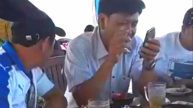 Tố Trung tá ăn nhậu với trùm đỏ đen: 'Không dám đâu'