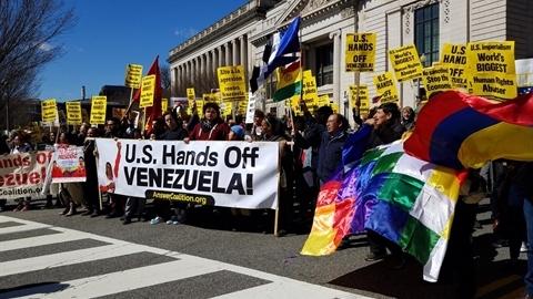 Biểu tình ủng hộ Venezuela lan khắp nước Mỹ