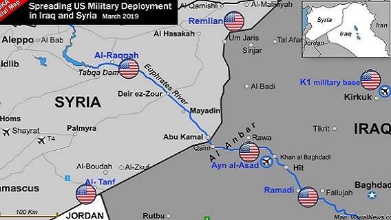 Mỹ lập 6 căn cứ lớn, bao trọn 1500km2 lãnh thổ Syria-Iraq