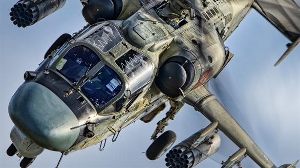 Căn cứ Mỹ kỷ niệm ngày truyền thống bằng ảnh Ka-52 Nga