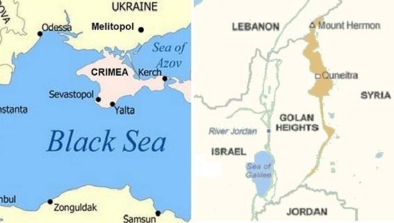 Golan và Crimea giống và khác nhau ở điểm nào?