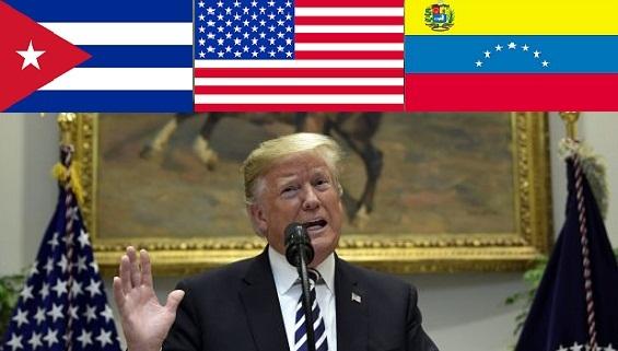 Mỹ tung đòn kép vào Venezuela-Cuba: Mưu phá 'thể ỷ dốc' Mỹ-Latinh