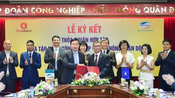 Vingroup và Viettel ký thỏa thuận hợp tác