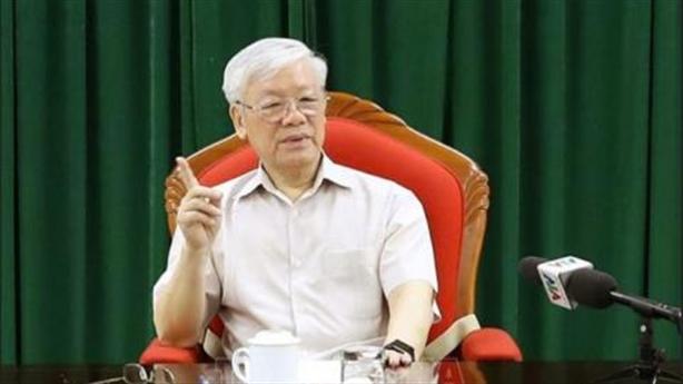 Tổng Bí thư Nguyễn Phú Trọng chủ trì họp lãnh đạo