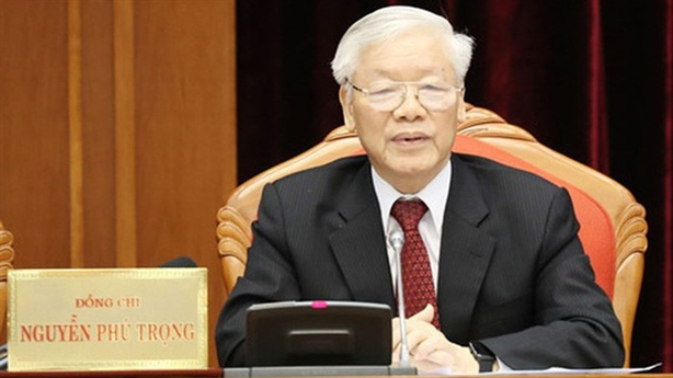 Tổng Bí thư Nguyễn Phú Trọng bế mạc Hội nghị TƯ 10