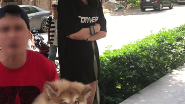 Việt kiều dắt chó nằm máy lạnh thách thức công an