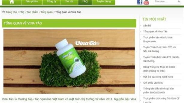 Cẩn trọng quảng cáo Vina Tảo, Egorex Omega 3.6.9 trên 2 website