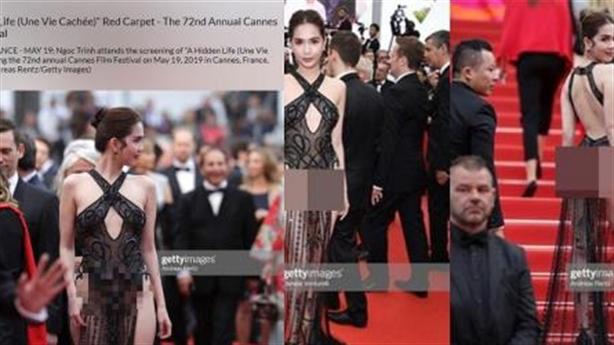 Ngọc Trinh khoe thân ở LHP Cannes: Không phạt được