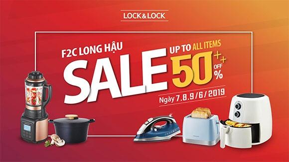Chào hè LOCK&LOCK F2C Long Hậu giảm giá 50% từ ngày 07-09/06/2019