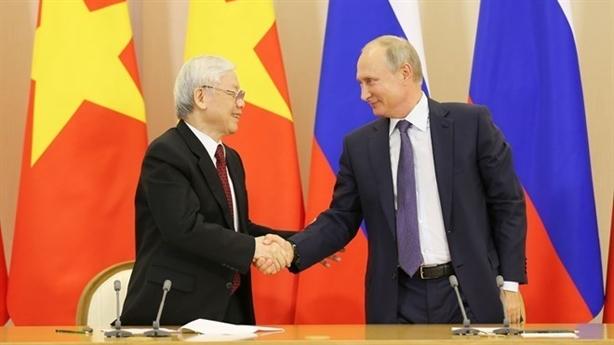 Tổng Bí thư Nguyễn Phú Trọng mừng 25 năm quan hệ Việt-Nga