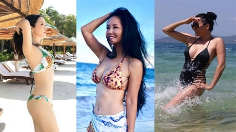 Loạt sao Việt trên dưới 50 diện bikini 'thách thức' đàn em