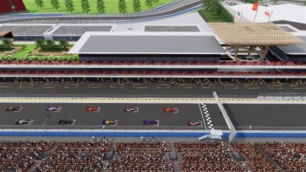 Những hình ảnh đầu tiên về đường đua F1 Hà Nội