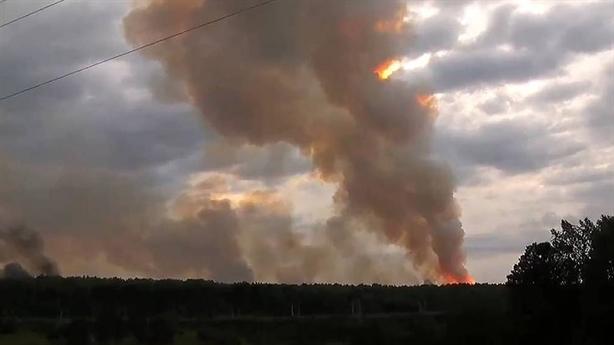 Nga dùng 10 chiếc Il-76 dập đám cháy kho đạn