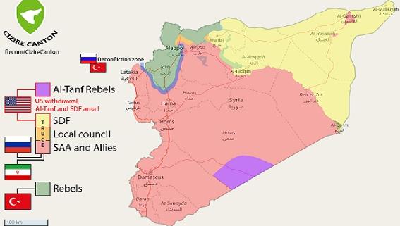 Cuộc chiến Syria: Sự phân chia các vùng cát cứ