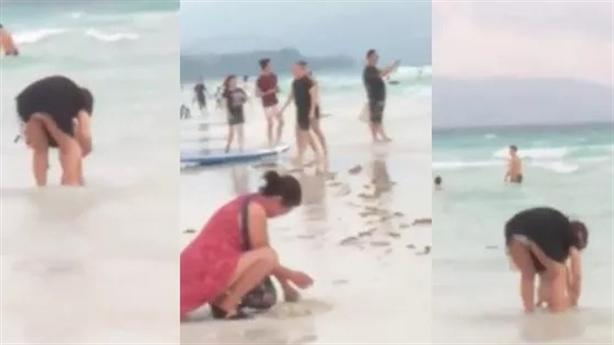 Philippines đóng cửa bãi biển vì du khách Trung Quốc chôn bỉm