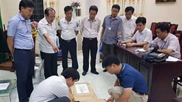 Sửa điểm thi Hà Giang