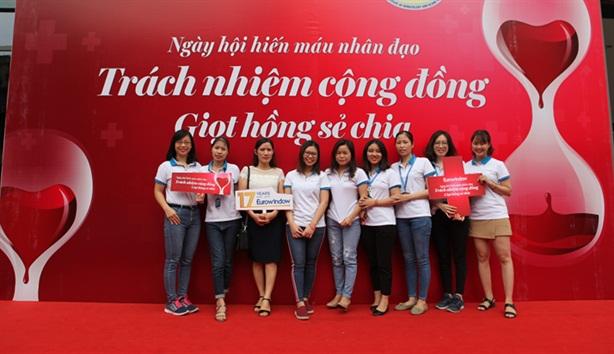 Ngày hội hiến máu Eurowindow huy động được 235 đơn vị máu