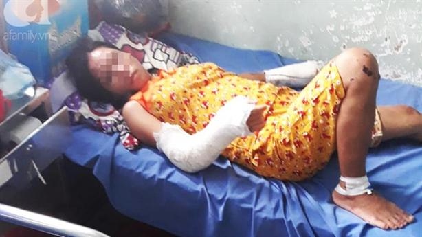 Chồng đánh vợ bầu 7 tháng vỡ sọ, gãy tay chân