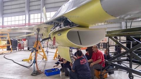 Lộ diện dây chuyền nâng cấp tiêm kích F-16V của Đài Loan