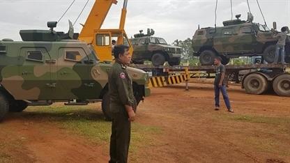 Campuchia nhận loạt thiết giáp nhẹ Trung Quốc cung cấp