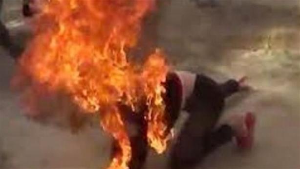 Chồng tẩm xăng đốt cả hai vợ chồng