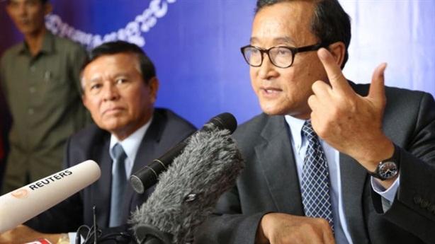 Campuchia ra lệnh bắt giữ cựu thủ lĩnh đối lập Sam Rainsy