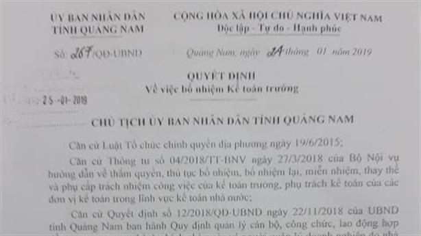 Kế toán trưởng Khu KTM Chu Lai nghỉ: Động viên ở lại