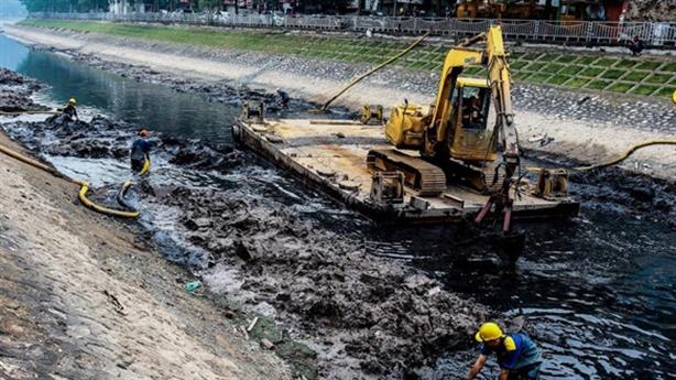 Đề xuất 'cống hóa' 4 sông Hà Nội làm bãi đỗ xe