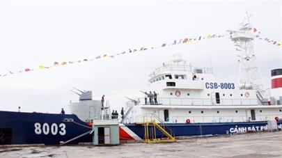 Việt Nam phục hồi vũ khí trên tàu tuần tra CSB 8003