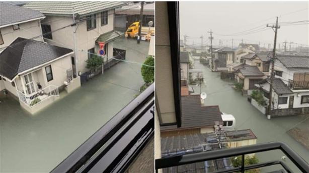 Mưa bão không cọng rác ở Nhật Bản