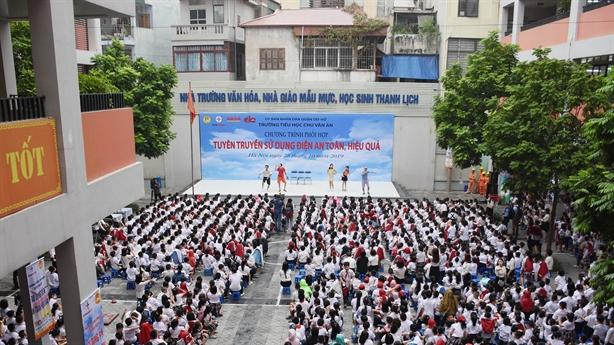Hà Nội: Sử dụng điện an toàn, hiệu quả trong trường học