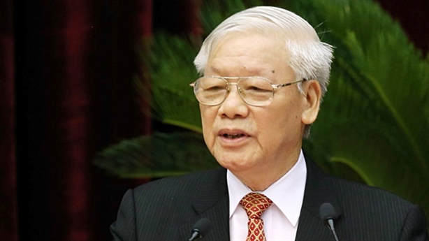 Tổng Bí thư Nguyễn Phú Trọng điện mừng Quốc vương Campuchia