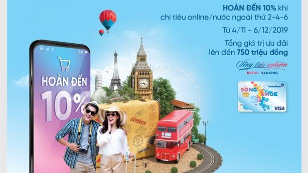 Chủ thẻ Sống khỏe VietinBank tiếp tục được hưởng thêm ưu đãi