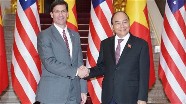 Hoa Kỳ muốn tăng cường hợp tác quốc phòng với Việt Nam