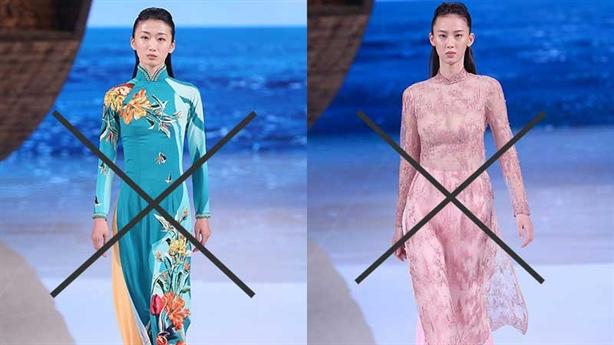 Báo Trung Quốc nhận vơ áo dài Việt: Sao chép, phản cảm