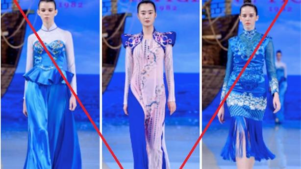 Thương hiệu Trung Quốc nhận vơ áo dài Việt: Xấu xí