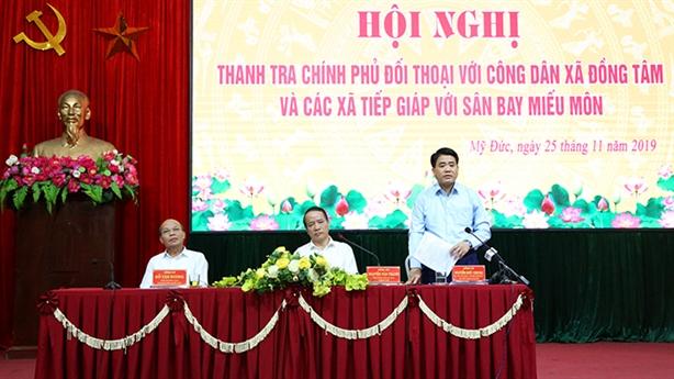 Thanh tra Chính phủ đối thoại với người dân Đồng Tâm