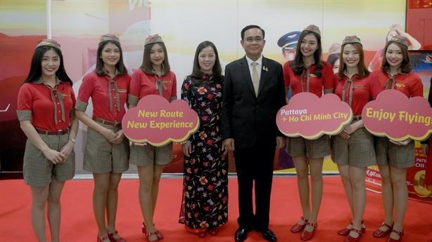 Thủ tướng Thái Lan chúc mừng Vietjet ra mắt đường bay Tp.HCM–Pattaya