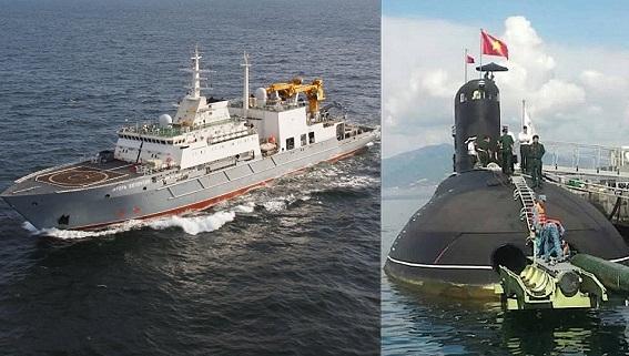 Hải quân Nga-Việt huấn luyện tàu ngầm ở Cam Ranh